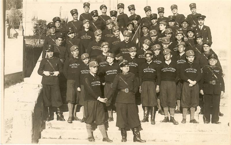 Gruppo volontari primi anni 1940
