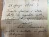 Lettera donazione porticina tabernacolo chiesa mise 1956